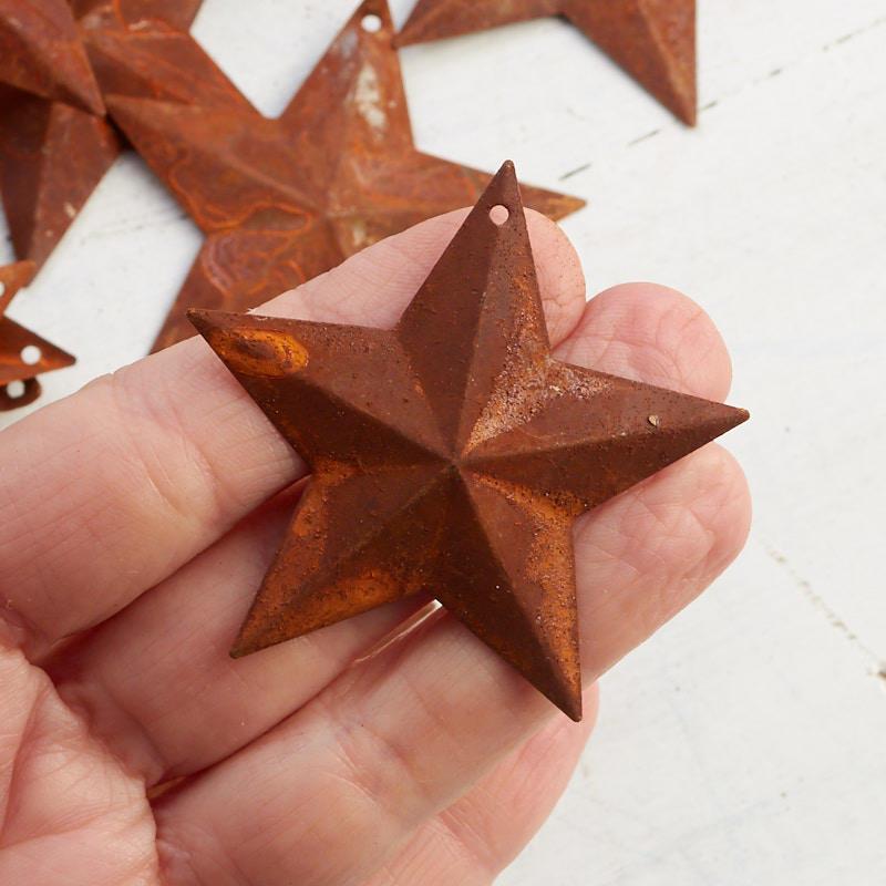 2 1 4 Quot Small Rusty Metal Stars Basic Craft Supplies