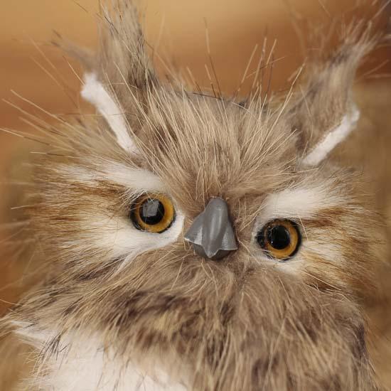 fluffy artificial screech owl birds amp butterflies