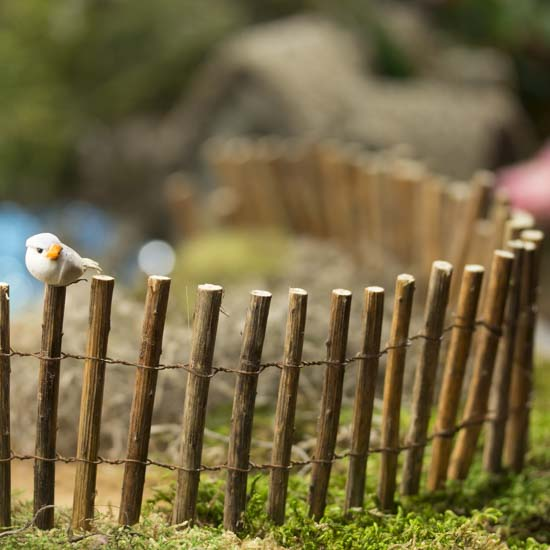 Miniature Rustic Natural Twig Fence Fairy Garden
