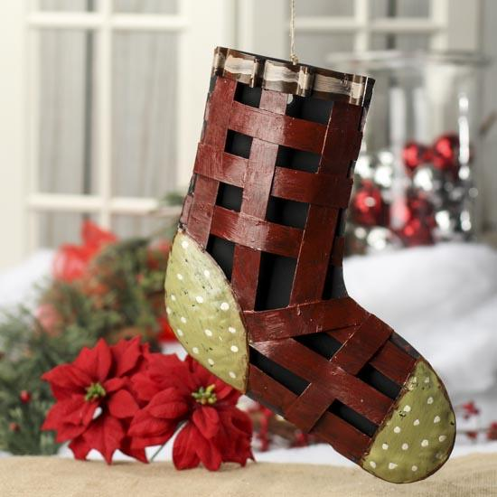 click here for a larger view - Rustic Christmas Stocking