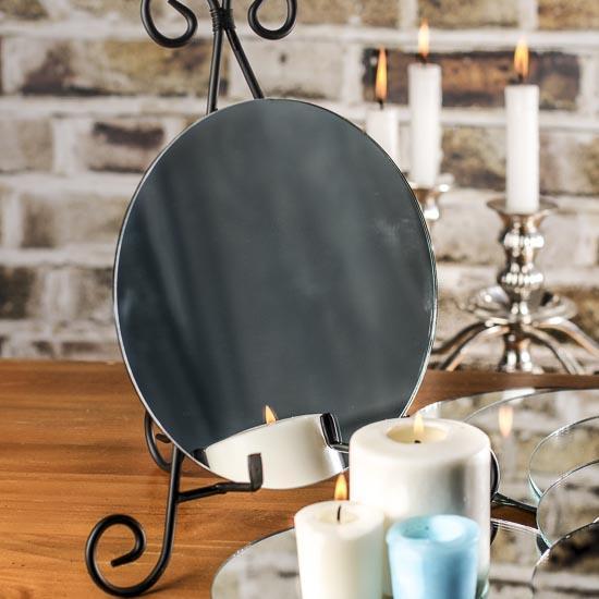 Round glass centerpiece mirrors