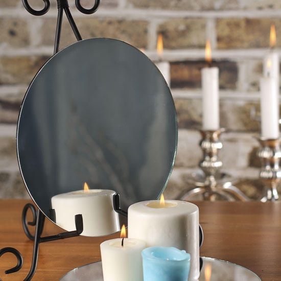 Quot round glass centerpiece mirror mirrors