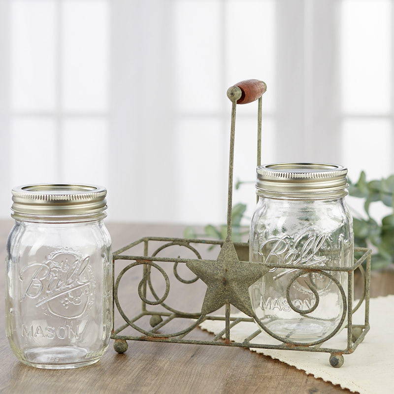zinc hammered metal dispenser jar caddy decorative