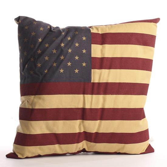 Primitive Throw Pillows For Couch : Primitive American Flag Throw Pillow - Decorative Accents - Primitive Decor