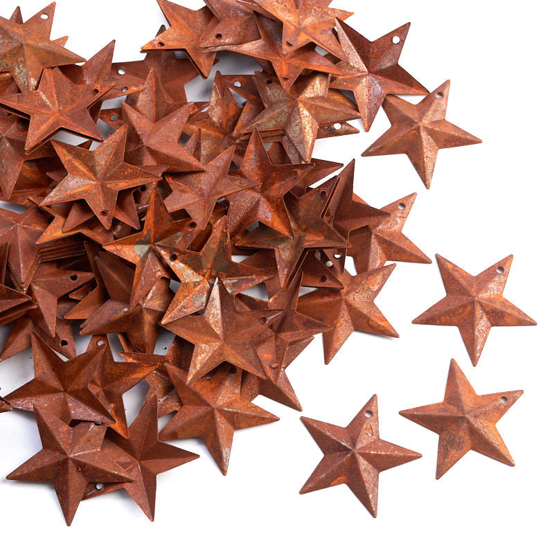 Miniature rusty tin barn stars rusty tin cutouts basic for Coupons for factory direct craft