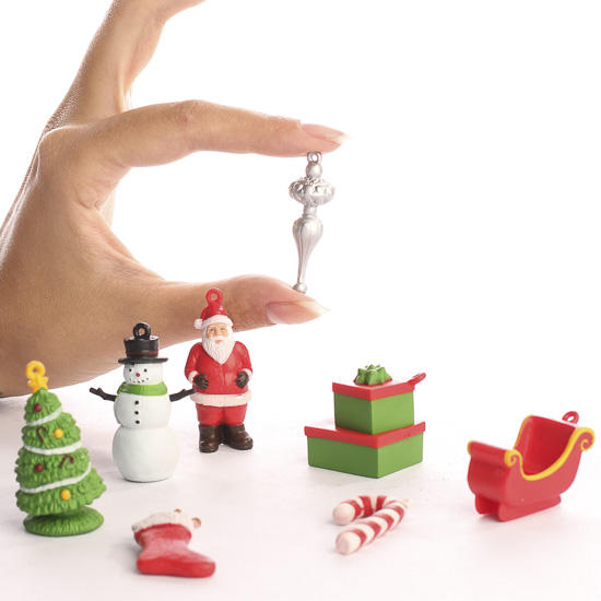 miniature christmas ornament figurines christmas ornaments christmas and winter holiday crafts - Mini Christmas Decorations