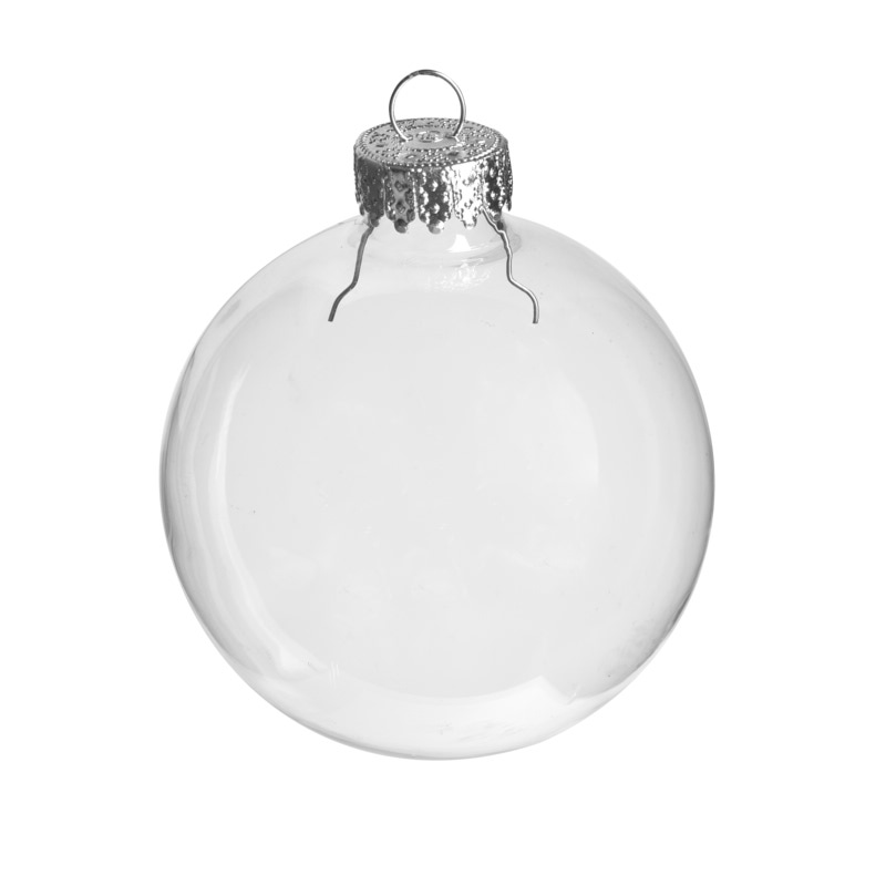 Clear glass ball ornaments acrylic fillable