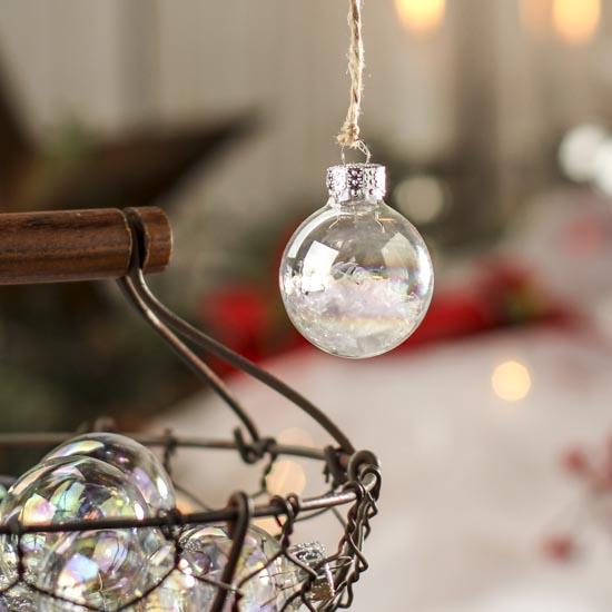 Iridescent Glass Ball Ornaments - Christmas Ornaments - Christmas ...