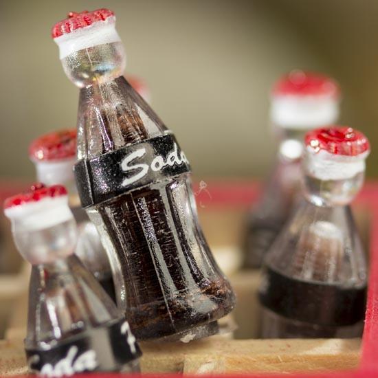Miniature Soda Pop Bottles Crate