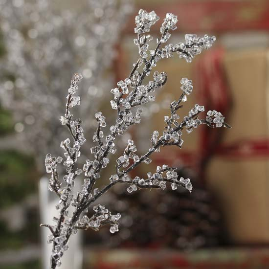 Artificial ICY Twig Branches