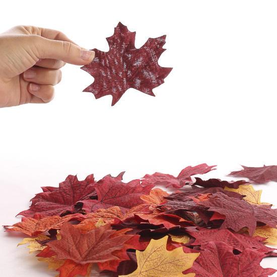 Realistic Autumn Artificial Maple Leaves Autumn Fall