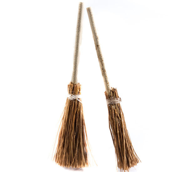 Miniature Bristled Brooms Doll Accessories Doll