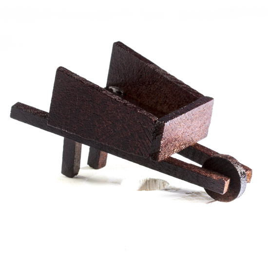 Miniature Wood Wheelbarrow