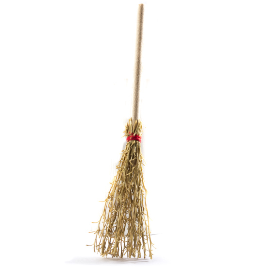 Miniature natural bristled broom straw brooms fall and for Straw brooms for crafts