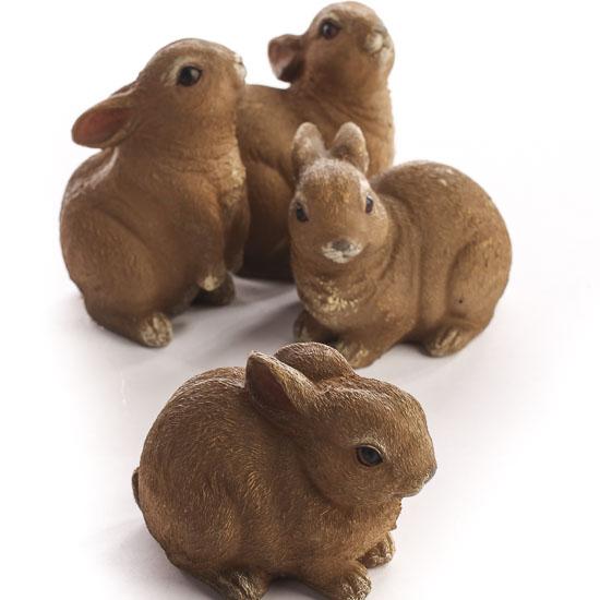 Darling Resin Bunny Figurines - Table Decor - Home Decor