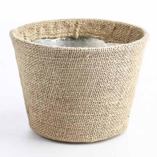 Burlap Wrapped Bucket Decorative Containers Kitchen