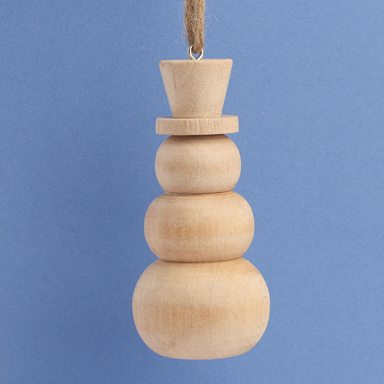 Wooden Unfinished Snowman Ornament Christmas Ornaments
