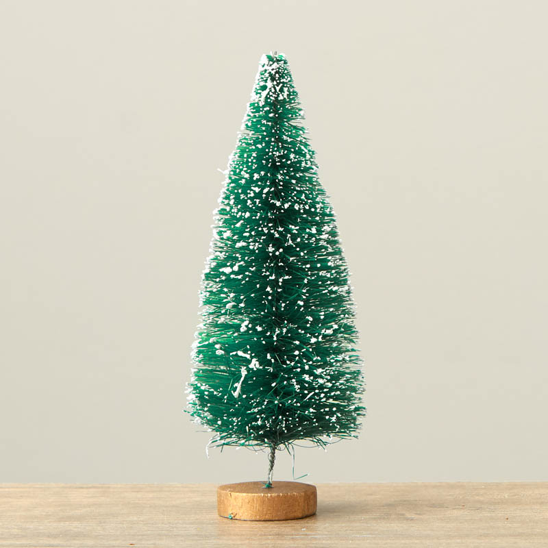 Frosted Green Bottle Brush Tree - Christmas Miniatures ...