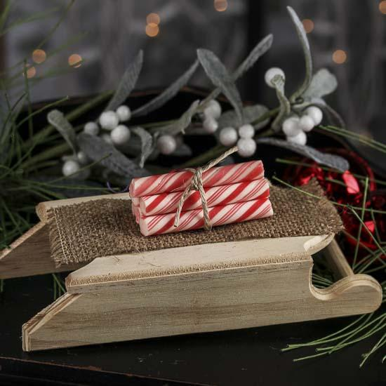 Unfinished Wood Sled Table Decor Christmas And Winter