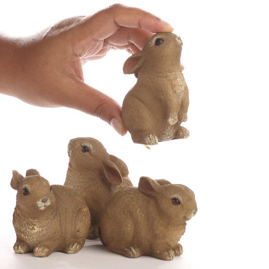 Darling Resin Bunny Figurines Animal Miniatures