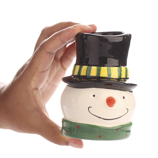 Ceramic Snowman Tealight Candle Holder Candles And