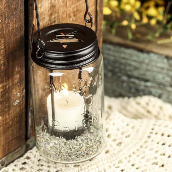 Mason Jar Tealight Candle Lantern Candles And