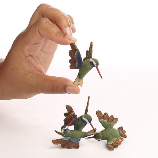 Small Artificial Hummingbird Mushroom Birds Birds