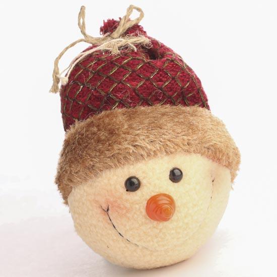 Rustic snowman head ornament christmas ornaments
