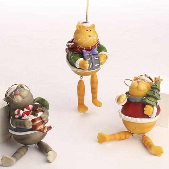 Dangly leg cat ornaments christmas ornaments christmas for Cat christmas ornaments craft