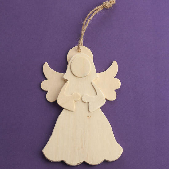 Unfinished wood angel cutout ornament wood cutouts for Wooden christmas cutouts