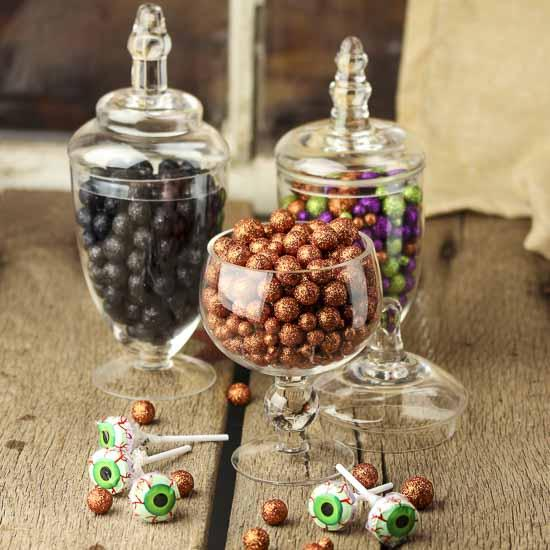 Assorted Halloween Glitter Balls Vase Fillers Table Scatters