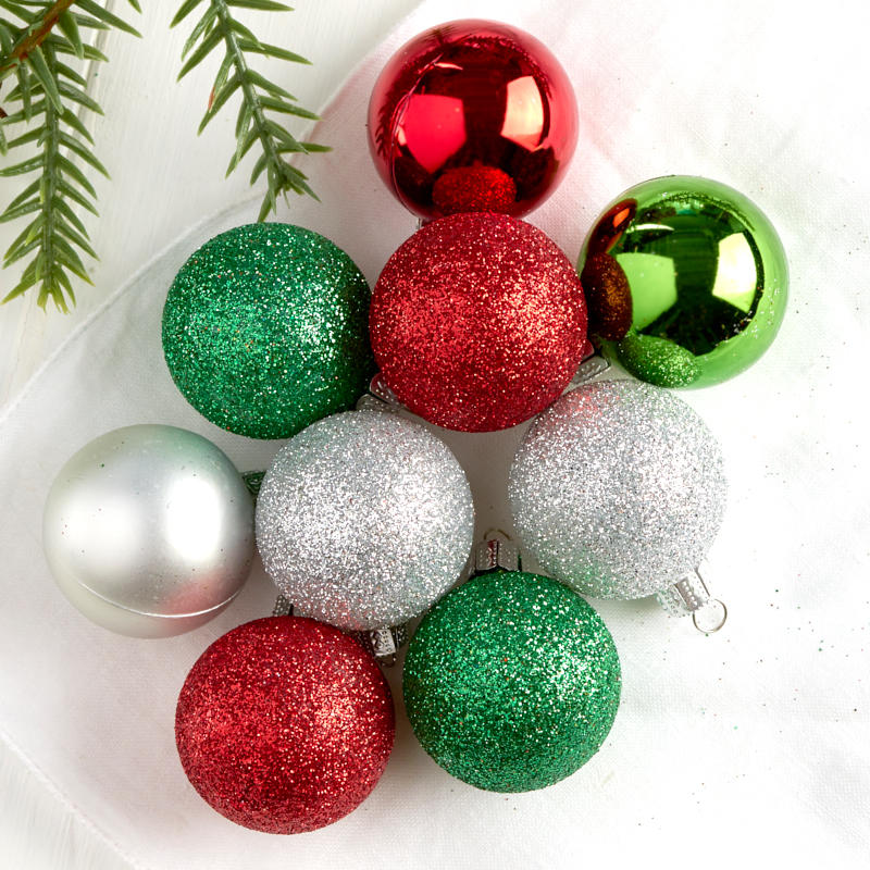 Click Here For A Larger View - Mini Assorted Christmas Ball Ornaments - Christmas Ornaments