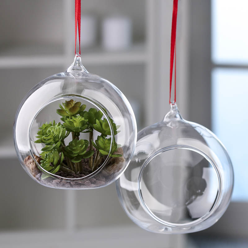 Hanging glass terrarium ornaments christmas ornaments christmas and winter holiday crafts - Hanging christmas ornaments ...