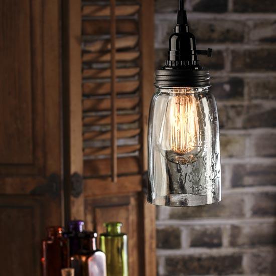 Mason Jar Pendant Lamp Kit Lamp Making Basic Craft