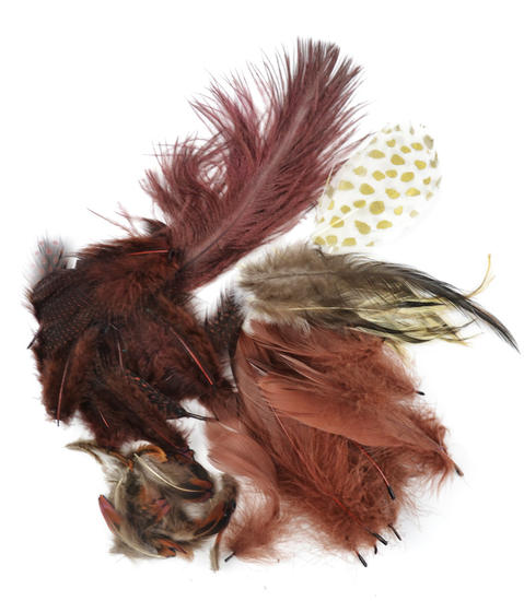 Natural brown feathers feathers boas basic craft for Natural feathers for crafts