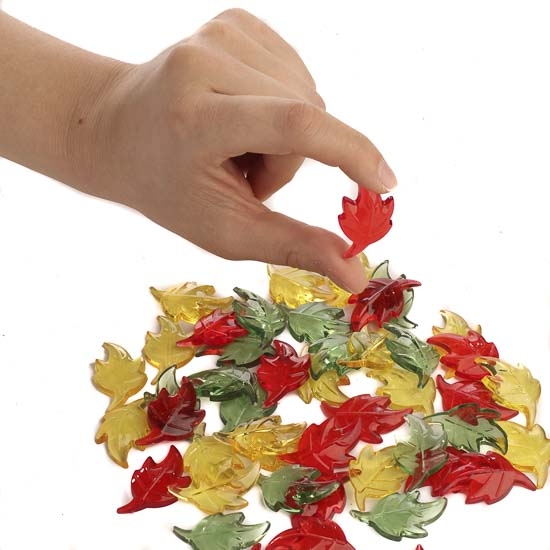 Acrylic Autumn Leaf Table Scatters Bowl And Vase Fillers