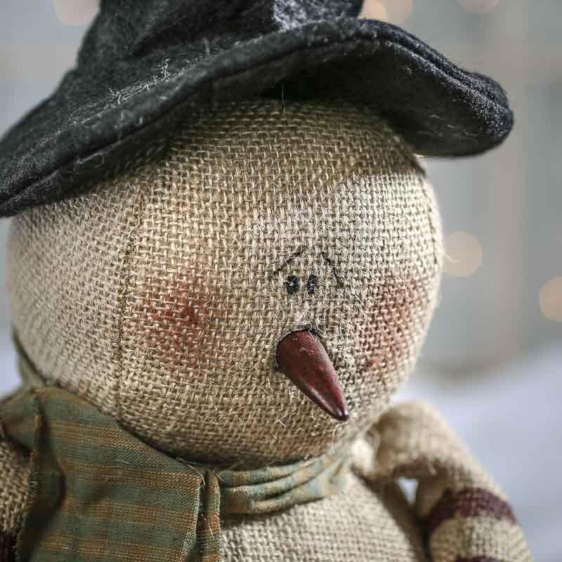 Burlap Wedding Ideas: Primitive Burlap Snowman Doll