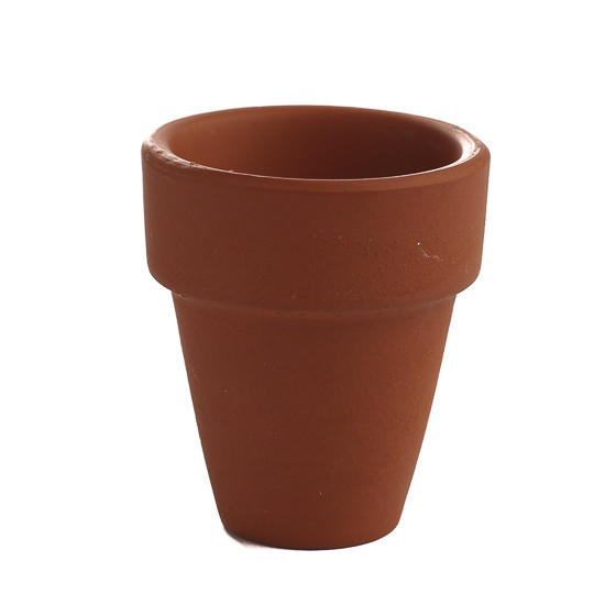 Small terra cotta flower pot decorative containers for Small clay flower pots