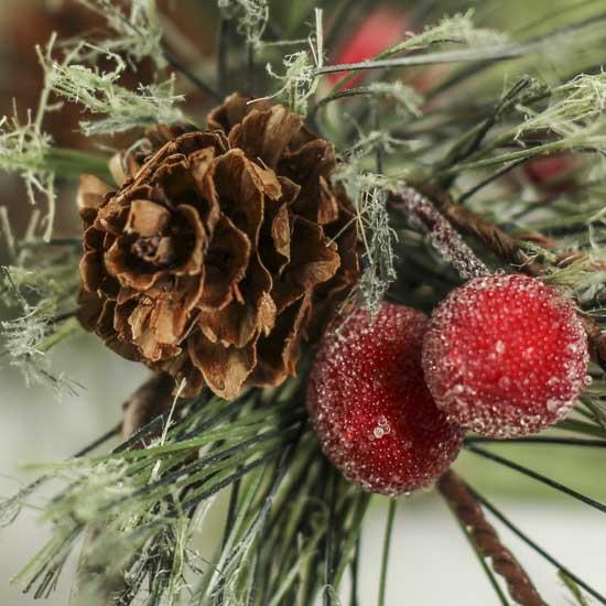 Holiday artificial pine garland holiday florals for Large christmas pine cones