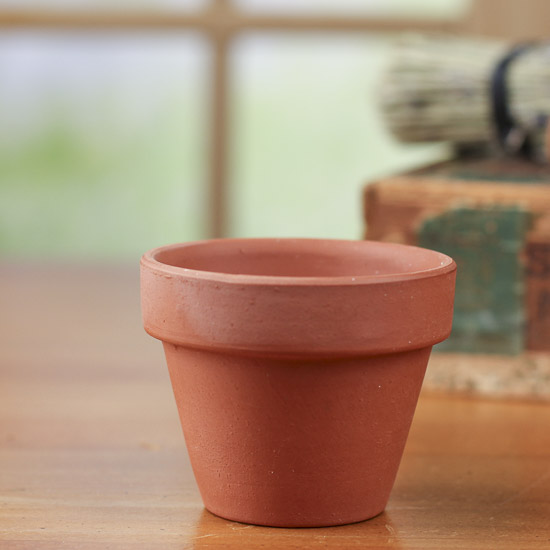 Small terra cotta flower pot kitchen and bath home decor for Small clay flower pots