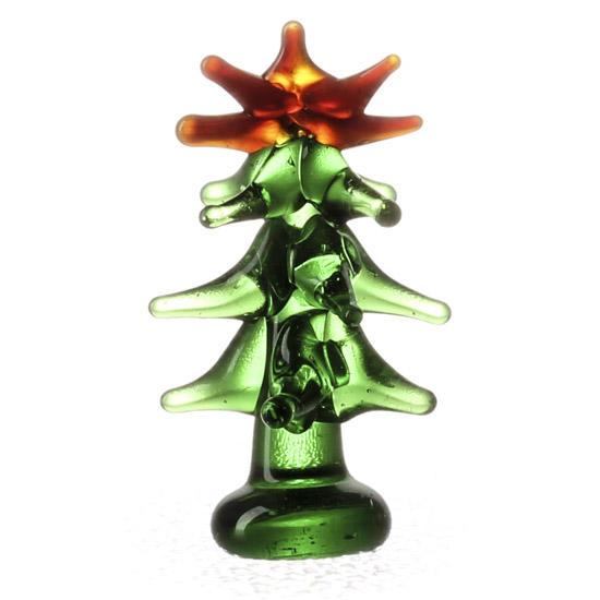 Miniature glass christmas tree and winter sale