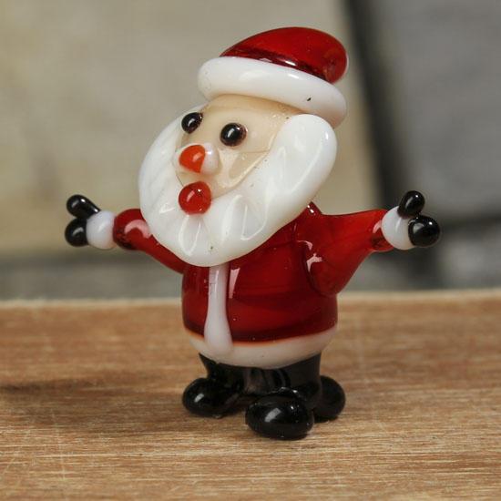 Miniature glass santa christmas miniatures christmas for Santa glasses for crafts