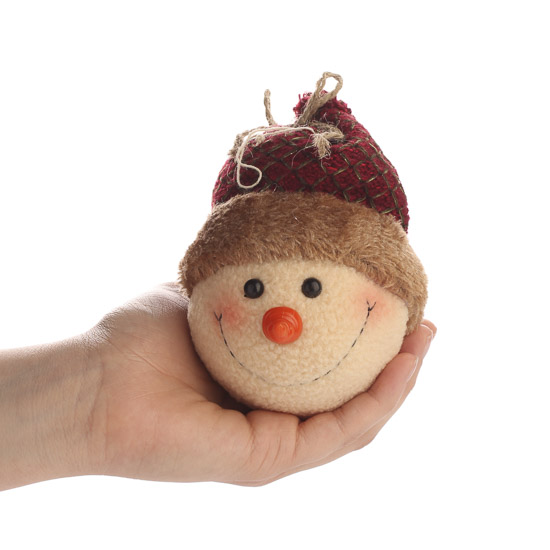 Rustic snowman head ornament christmas and holiday