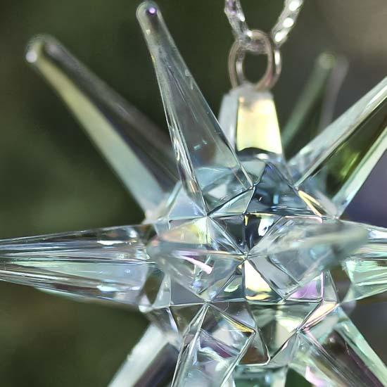 acrylic starburst snowflake ornaments - snow