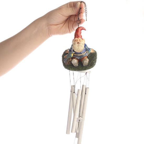 Relaxing Gnome Wind Chime Fairy Garden Supplies
