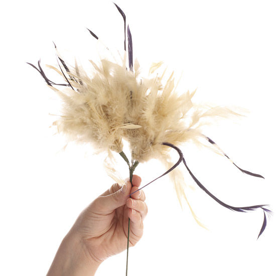 Natural feather flower stem feathers kids crafts for Natural feathers for crafts