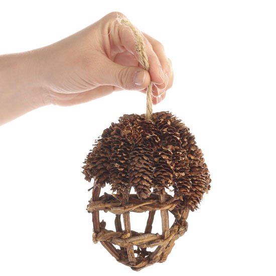 Pinecone and twig acorn ornament christmas ornaments for How to make acorn ornaments