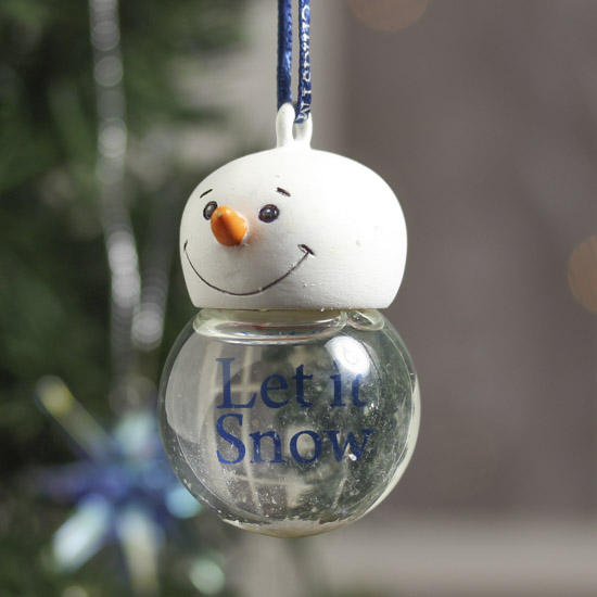 Miniature snow globe ornament christmas ornaments