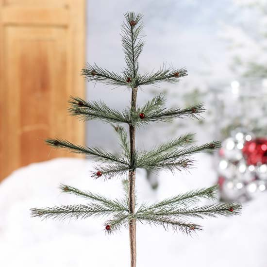 Click Here For A Larger View - Skinny Artificial Feather Tree Pick - Trees And Toppers - Christmas