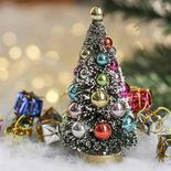 Small Frosted Bottle Brush Christmas Tree